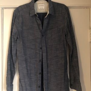 On the Byas Mens Button Down Casual